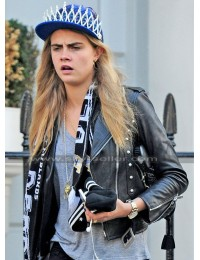 Paper Towns Cara Del (Margo) Biker Leather Jacket