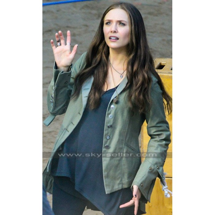 Scarlet Witch Captain America Civil War Elizabeth Olsen Jacket