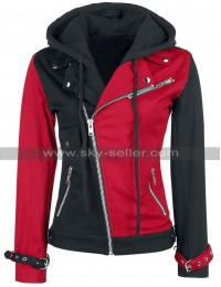 Suicide Squad Harley Quinn Red And Black Cotton Jacket