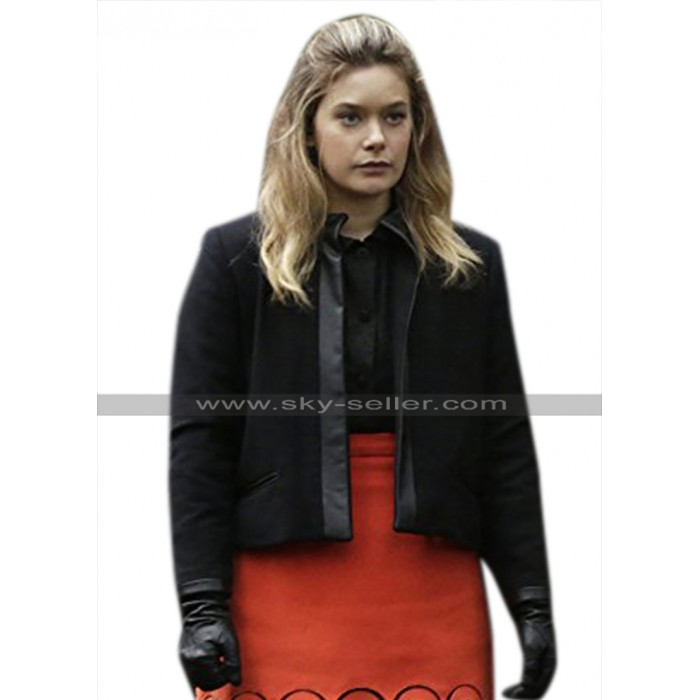 Legion Syd Barrett (Rachel Keller) Black Wool & Faux Leather Jacket
