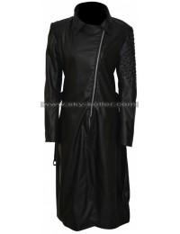 Deadpool Brianna Hildebrand (Ellie Phimister) Studded Leather Coat