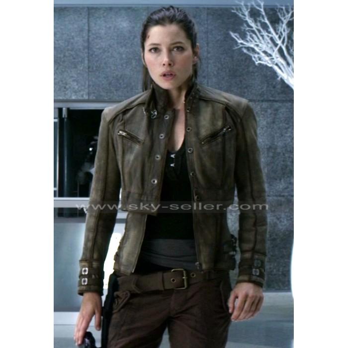 Total Recall Jessica Biel (Melina) Leather Jacket