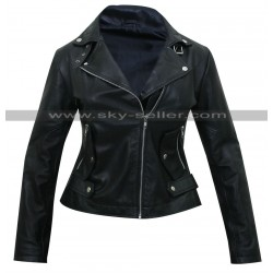 Unforgettable Carrie Wells (Poppy Montgomery) Biker Jacket