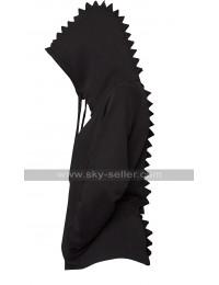 Dinosaur Spikes Style Fleece Bomber Unisex Hoodie Jacket
