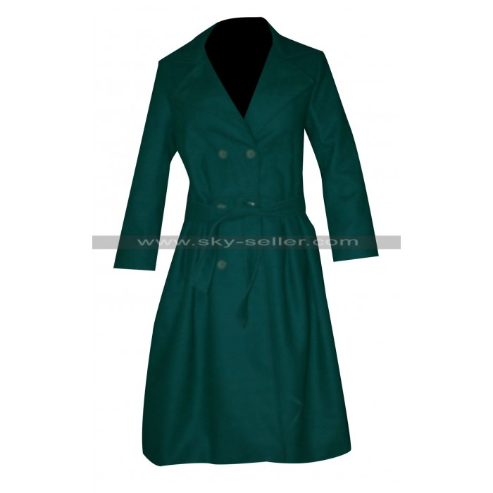 Blake Lively Age of Adaline Green Trench Coat