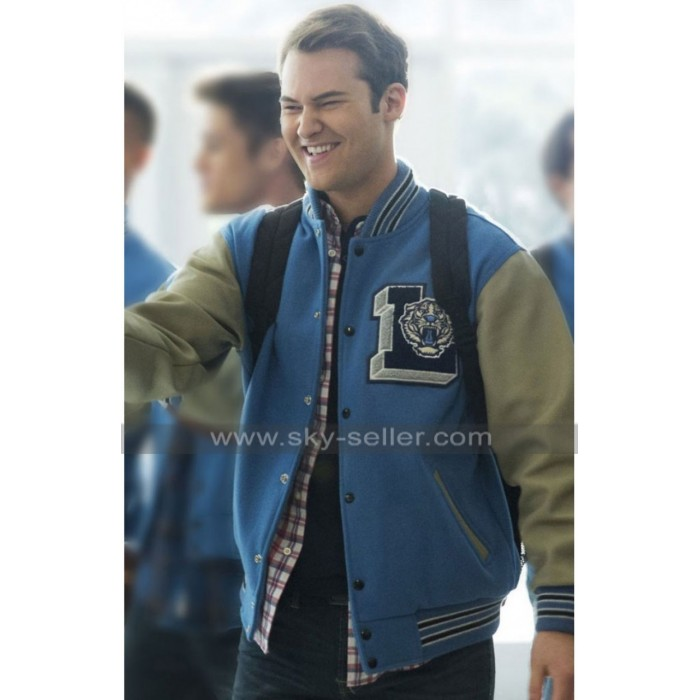 13 Reasons Why Justin Foley Baseball Varsity Letterman Jacket