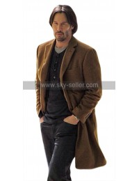 Siberia Lucas Hill Keanu Reeves Brown Wool Trench Coat