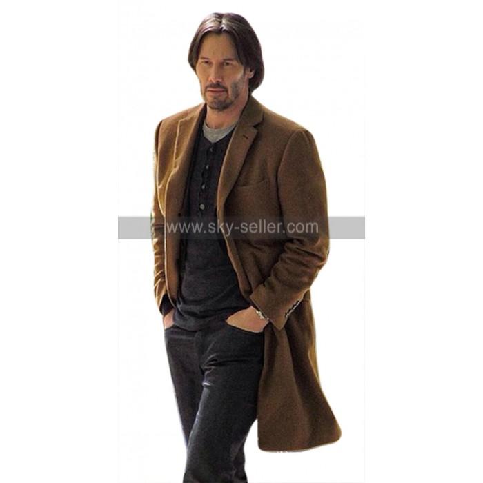 Siberia Lucas Hill (Keanu Reeves) Brown Wool Trench Coat