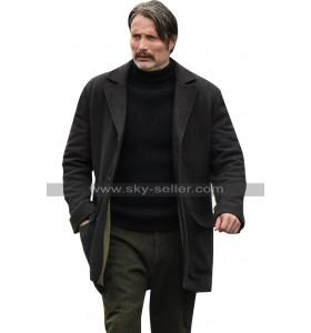 Mads Mikkelsen Netflix Polar Duncan Vizla Black Jacket Wool Coat