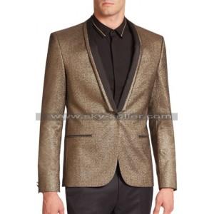 Joker Suicide Squad Golden Tuxedo Wool Jacket