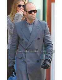 Superstar Jason Statham Grey Wool Coat