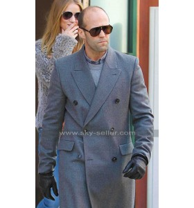 Superstar Jason Statham Grey Wool Coat