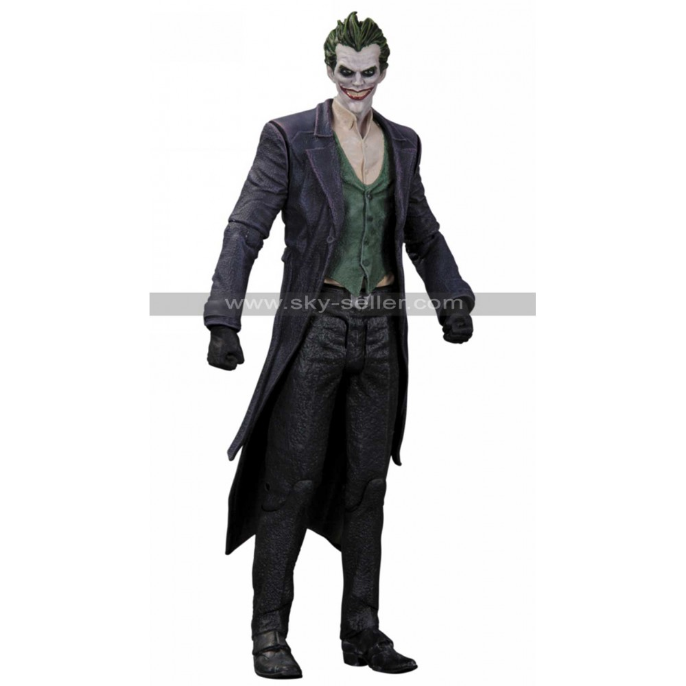 The Joker Batman Arkham Origins Trench Coat