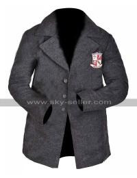 The Umbrella Academy Uniform Jacket Grey Wool Pea Coa For Students