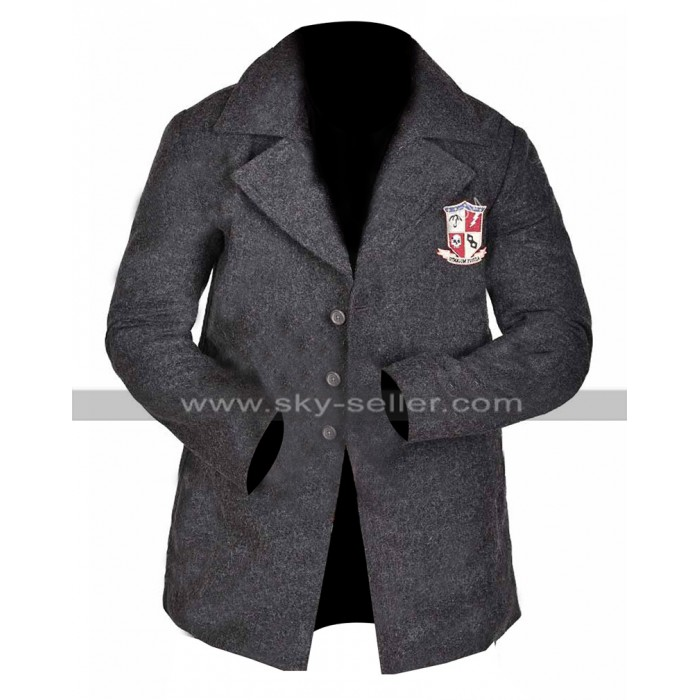The Umbrella Academy Uniform Jacket Grey Wool Pea Coa For Students
