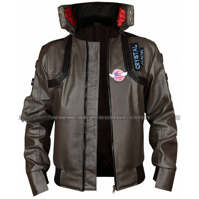 Cyberpunk 2077 V Cosplay Samurai Leather Jacket Costume